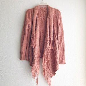 Sweaters - Burnt Orange Chunky Knit Cardigan